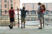 Children on the Dock in Liverpool