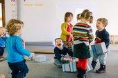 Children exploring the free activities in the family room © Tate Liverpool, Rachel Ryan