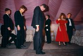 Chris Steele Perkins, Hypnosis demonstration, Cambridge University Ball, from The Pleasure Principle, 1980–9
