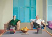 David Hockney, Christopher Isherwood and Don Bachardy,1968, Private Collection © David Hockney