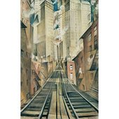 Custom print of CRW Nevinson's Nevinson: The Soul of the Soulless City 1920