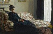 Claude Monet Meditation, Mrs Monet Sitting on a Sofa 1871 musée d'Orsay, Paris, France © photo musée d'Orsay / rmn