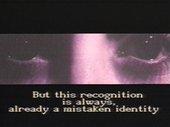 Tony Cokes FADE TO BLACK 1990, video still. Courtesy the artist, Greene Naftali, New York, Hannah Hoffman, Los Angeles and Electronic Arts Intermix, New York