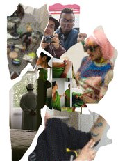 collage cut out of people