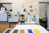 Samples of paint in the Tate science and conservation department