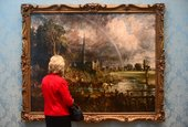 Constable's Salisbury Cathedral from the Meadows 1831 on display at National Museum Cardiff, 2014 Photo © Amgueddfa Cymru – National Museum Wales