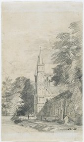 John Constable RA Salisbury Cathedral: the west front 1811 Pencil on laid paper © Victoria and Albert Museum, London