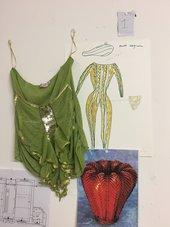 A green frilly vest