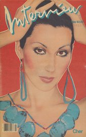 Cover of Andy Warhol's Interview magazine from May 1982, featuring Cher
