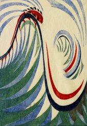 Cyril Power, The Giant Racer, c1930, linocut, 27.6 x 19.2 cm - Photo © Osborne Samuel Ltd, London/Bridgeman Images
