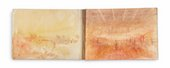Spreads from Turner's Dieppe sketchbook