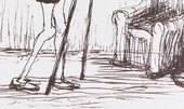 Henry Moore, The Pantaloon (detail), 1982