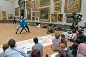Dancers performing in Tate Britain