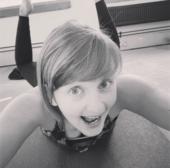 Yoga teacher Donna