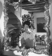 Dorothea Tanning at her home in the south of France, c1955, photographed by Michael Ochs