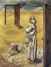 Dorothea Tanning, Maternity, 1946–7, oil paint on canvas, 142 x 121 cm