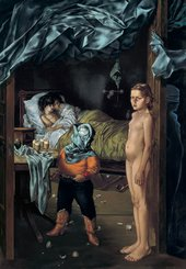 Dorothea Tanning, The Guest Room, 1950–2, oil paint on canvas, 152 x 106 cm