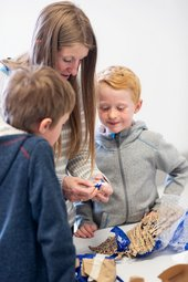Photograph of a family activity at Tate Liverpool