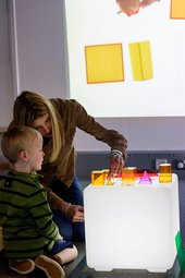 Photograph of a children's activity at Tate Liverpool