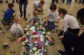 Photograph of a family event at Tate