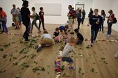 Photograph of an 8-14s workshop event at Tate Modern