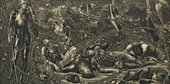 After Edward Burne-Jones,The Legend of the Briar Rose - The Prince Enters the Briar Wood1892