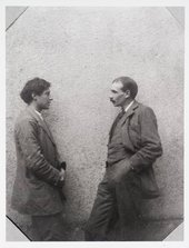 Photograph of Duncan Grant and Maynard Keynes at Asheham House in Sussex, the home of Leonard and Virginia Woolf, 1912  © Tate