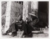 Photograph of Duncan Grant and Vanessa Bell at Simon Bussy's villa near Menton in the South of France, 1930s © Tate Archive