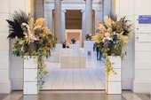 Flowers in the Duveen galleries