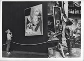 Romany de Villiers ponders Picasso at Tate Gallery, 1960