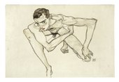 Egon Schiele, Self-Portrait in Crouching Position 1913. Photo: Moderna Museet / Stockholm