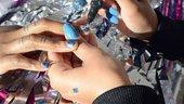Photograph of painting nails
