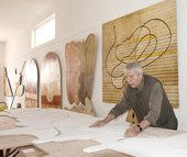 Farid Belkahia in his studio in Marrakech, 2010 - © Fondation Farid Belkahia