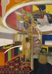 Frank Bowling Mirror 1966 Tate Presented by the artist, Rachel Scott, and their 4 children: Benjamin and Sacha Bowling, Marcia and Iona Scott 2013 © Frank Bowling. All Rights Reserved, DACS 2019