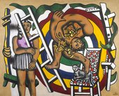 Painting by Leger: The Acrobat and his partner