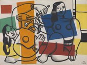 Fernand Léger, Two Women Holding Flowers 1954