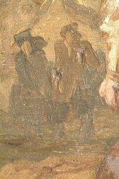 Fig.10 Detail of distant figures in slightly raking light