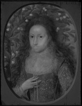 Fig.17 Lady Anne Pope c.1615, photographed in black and white in raking light from the left