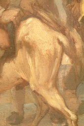 Fig.11 Detail of brushwork in the grey horse