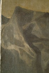 Fig.11 Detail of the drapery and background