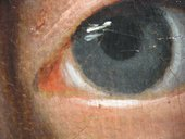 Fig.11 Detail at x8 of the sitter's left eye