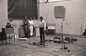 Fig.11 Joseph Beuys and Henning Christiansen performing Celtic (Kinloch Rannoch) Scottish Symphony during the exhibition Strategy: Get Arts at the Edinburgh College of Art, 1970