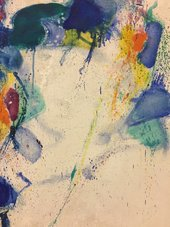 Fig.11 Sam Francis, Around the Blues, detail
