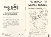Fig.13 Cover of Richard Demarco, The Road to Meikle Seggie, Edinburgh 1978
