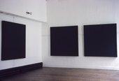 Installation view of the exhibitionAd Reinhardt, Institute of Contemporary Arts, London 1964