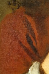 Fig.14 Detail of the drapery at the shoulder