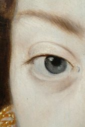 Fig.14 Detail of the sitter's right eye and brow