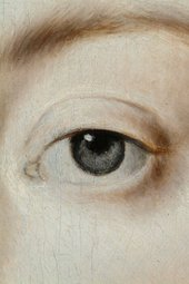 Fig.15 Detail of the sitter's left eye and brow
