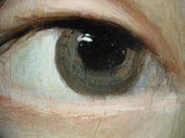Fig.15 Detail at x8 magnification of the sitter's right eye