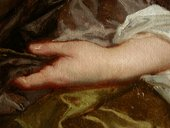 Fig.15 Close-up detail of the sitter's left hand